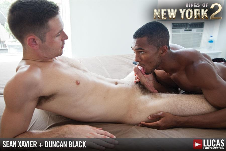 "Lucas Entertainment Kings Of New York Season 2 Sean Sean Xavier and Duncan Black Interracial Fucking Big Black Cock Amateur Gay Porn 03 White Hunk Takes A 12"" Black Cock Up His Ass and Eats A Load"