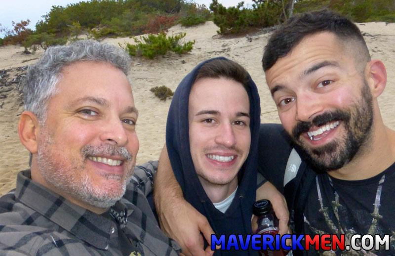 Maverick-Men-Danny-Two-Older-Guys-Fucking-A-Hairy-Young-Ass-In-The-Woods-Bareback-Amateur-Gay-Porn-6 Two Amateur Sexy Daddies Bareback Their Young Buddy In The Woods