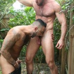 Butch-Dixon-Rikk-York-and-Matt-Stevens-Hairy-Daddy-and-Younger-Guy-Trade-Blow-Jobs-Amateur-Gay-Porn-02-150x150 Hairy Beefy Muscle Daddy Fucking His Younger Buddy Outside