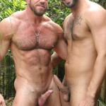 Butch-Dixon-Rikk-York-and-Matt-Stevens-Hairy-Daddy-and-Younger-Guy-Trade-Blow-Jobs-Amateur-Gay-Porn-05-150x150 Hairy Beefy Muscle Daddy Fucking His Younger Buddy Outside