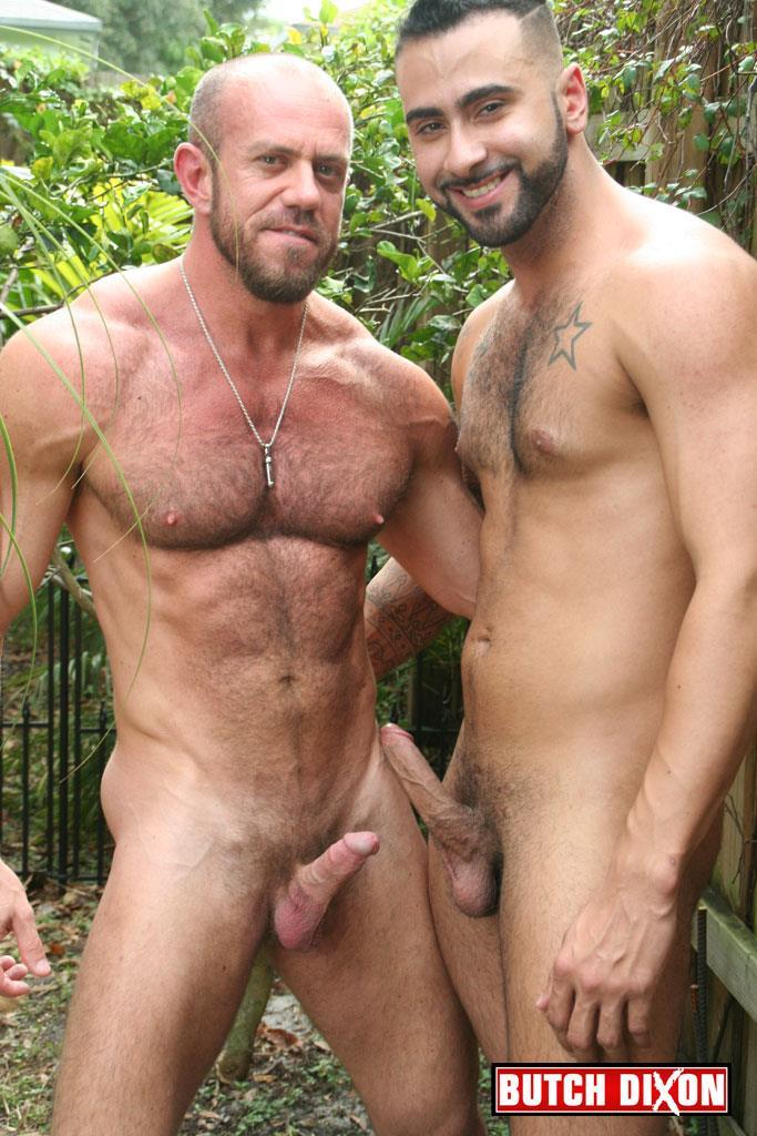 Butch Dixon Rikk York and Matt Stevens Hairy Daddy and Younger Guy Trade Blow Jobs Amateur Gay Porn 05 Hairy Beefy Muscle Daddy Fucking His Younger Buddy Outside