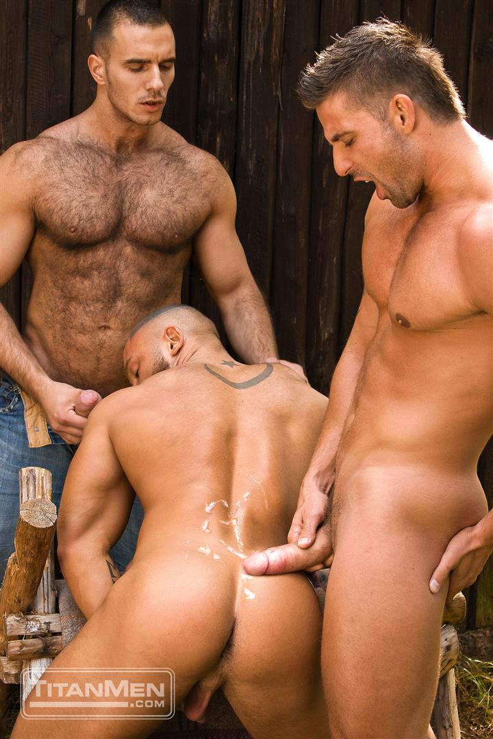 TitanMen Cum Shots from Hairy Muscle Hunks Amateur Gay Porn 4 One Video and A Gallon Of Hot Cum