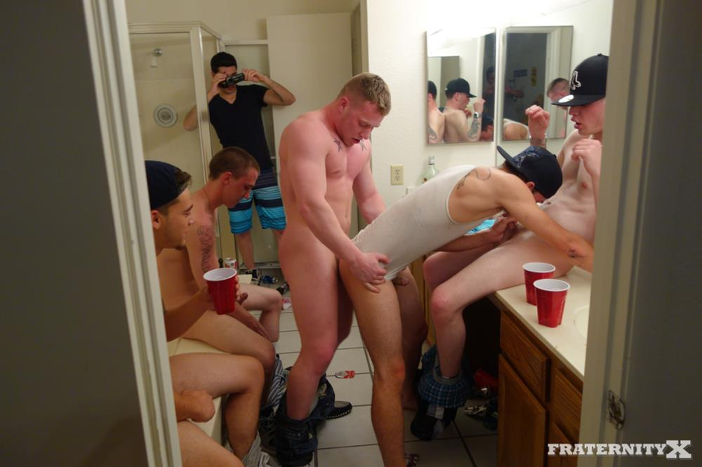 Fraternity X Anthony and Brad Freshman Getting Barebacked By Frat Guys Amateur Gay Porn 01 Straight Freshman Gets Barebacked Gang Banged At Frat Party