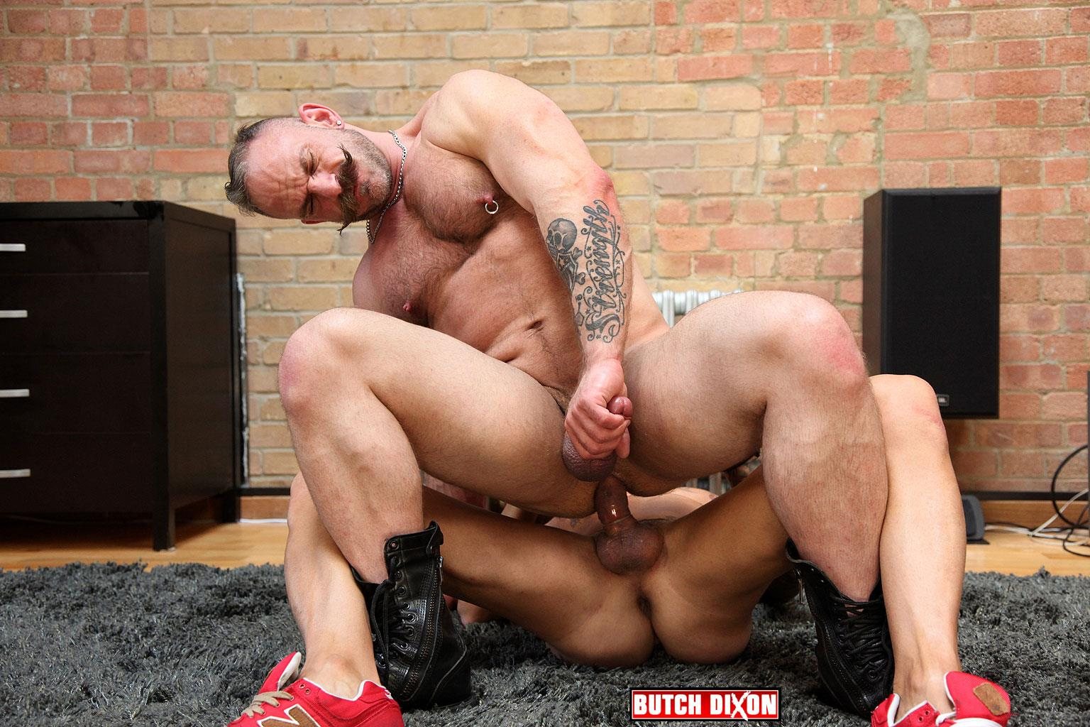 Butch-Dixon-Samuel-Colt-and-Frank-Valencia-Hairy-Muscle-Daddy-Getting-Fucked-By-Latino-Cock-Amateur-Gay-Porn-15 Happy Fathers Day: Hairy Muscle Daddy Samuel Colt Taking A Big Cock Up The Ass