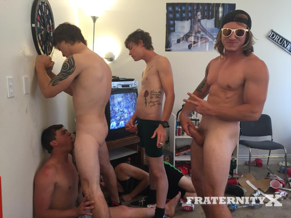 Fraternity-X-College-Frat-Guys-Naked-and-Fucking-Bareback-Amateur-Gay-Porn-25 Drunk Frat Guys Getting Stoned and Barebacking A Freshman Pledge
