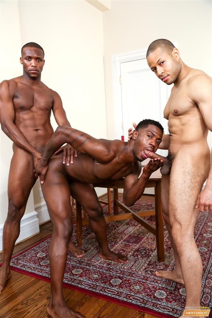 Next Door Ebony Krave Moore and Andre Donovan and Rex Cobra Big Black Cock Amateur Gay Porn 10 Three Black Guys Playing Strip Dominoes With Their Big Black Cocks