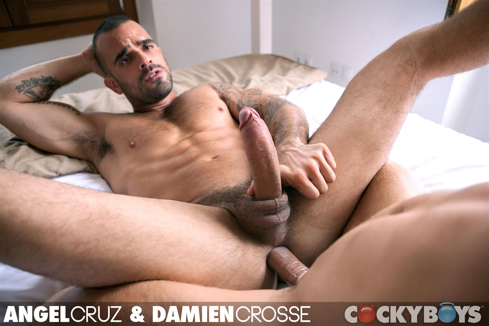 Cockyboys Angel Cruz and Damien Cross Big Uncut Cocks Fucking Amateur Gay Porn 33 Angel Cruz and Damien Cross Flip Fucking With Their Big Uncut Cocks