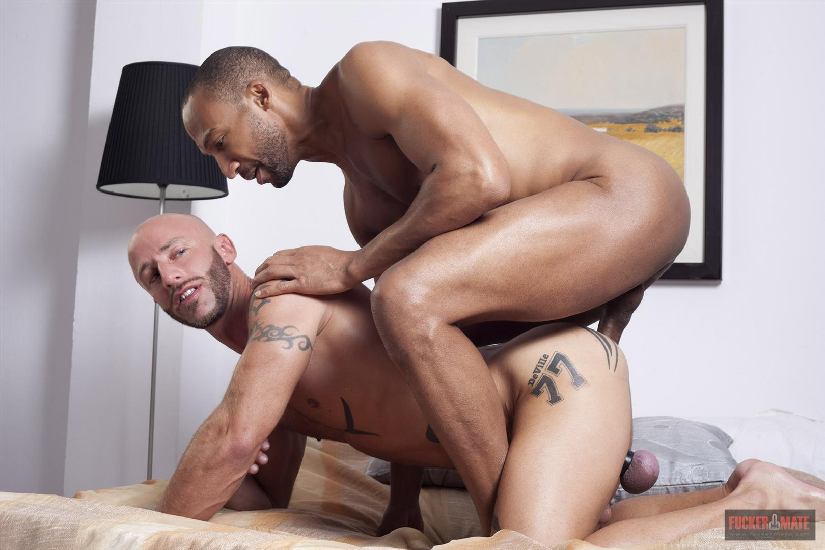 Fuckermate Buster Sly and Aymeric Deville Interracial bareback fucking Amateur Gay Porn 09 Interracial Bareback Breeding With Buster Sly and Aymeric Deville
