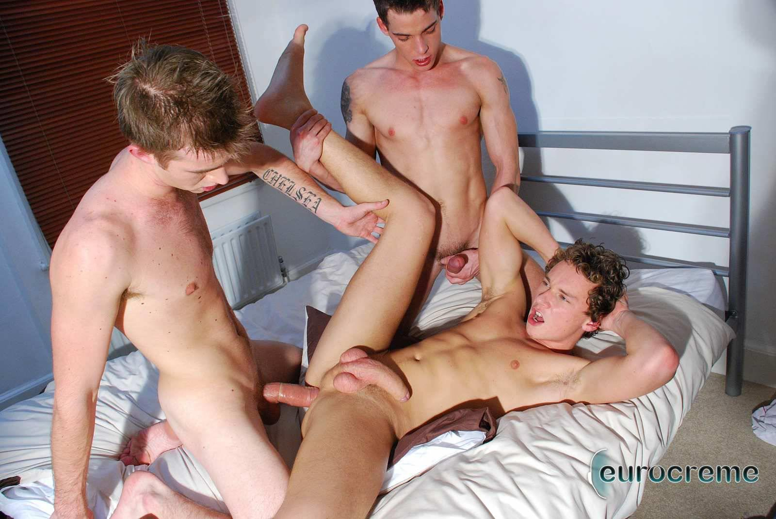 Eurocreme-Matt-Hughes-and-Alex-Stevens-and-Philipe-Delvaux-Twinks-Fucking-Amateur-Gay-Porn-17 Matt Hughes Uses His 11-Inch Uncut Cock On Two Tricks